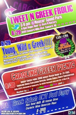 CAROLINA GREEK EXPLOSION THIS WEEKEND #CHARLOTTE , NC 200+ CHAPTERS ONE CITY ONE WEEKEND #CarolinaGreek