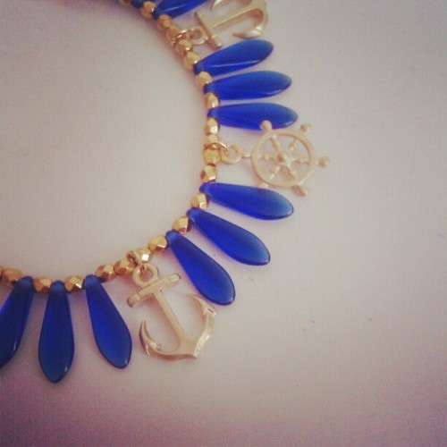 Hello #sailor! #bracelet #summer #jewelry #blue #ultramarine #anchor #weel #sea #travel #charm  (Taken with Instagram)