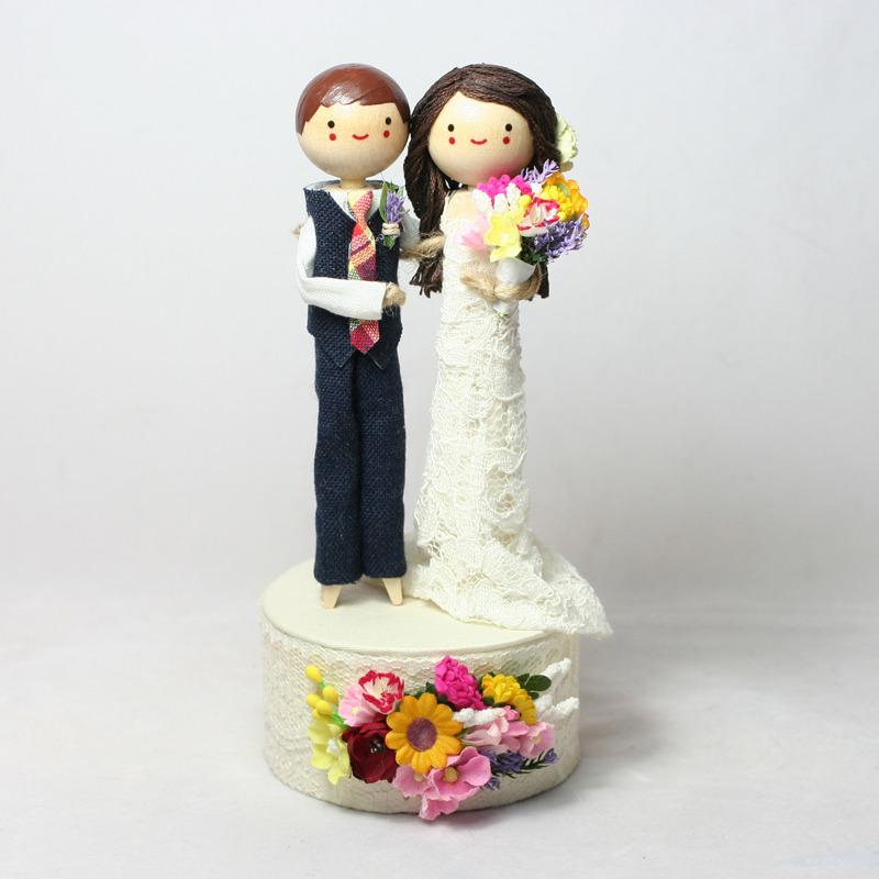 Wedding No. 617 - Custom Wedding Cake Topper with custom theme base