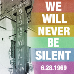 43 years after the uprising at the Stonewall Inn, we honor those who fought before us!