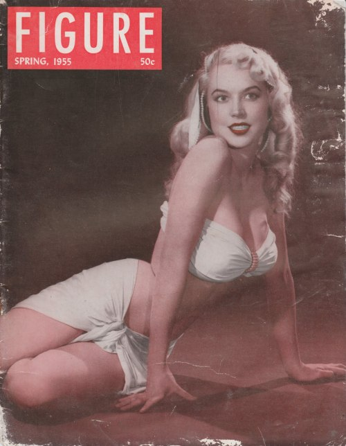 theniftyfifties:  Betty Brosmer on the cover of Figure magazine, Spring 1955.
