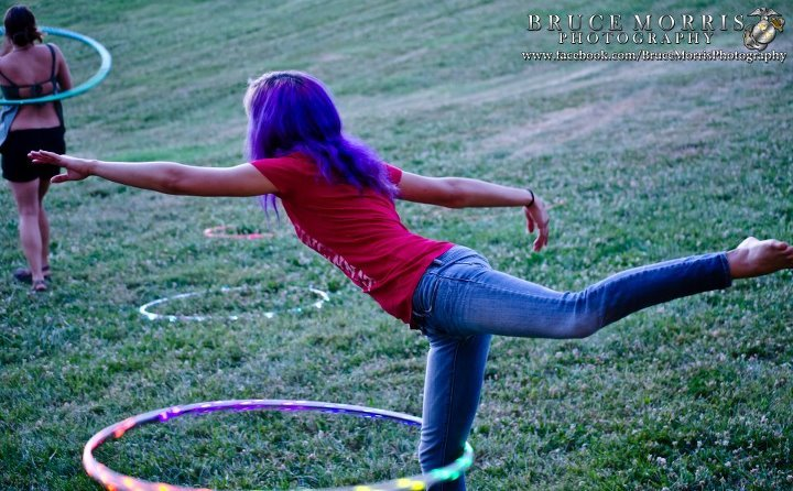 Rainbow LED Hula Hoop mayabelen:      Pics from the other night's drum circle/hoop jam.