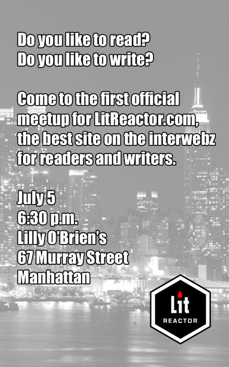 litreactor:  One week from today! Spread the word!
