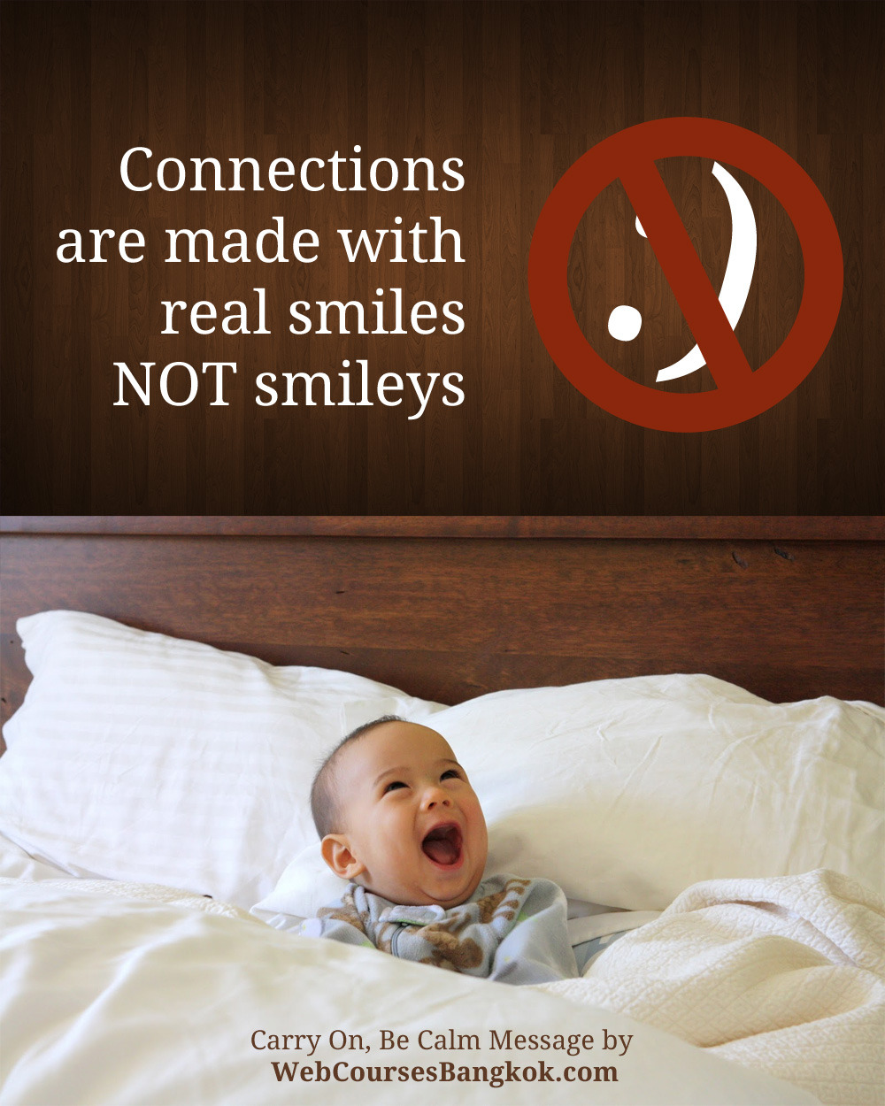 Real smiles vs. smileys