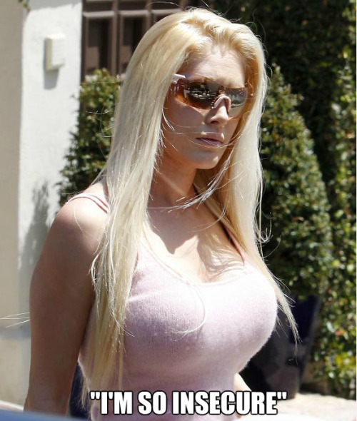 "The walking definition of the saying: ""15-minutes-of-fame"", Heidi Montag (from MTV's The Hills), has finally revealed that she regrets all of her plastic surgery every day. Heidi also states that eating healthy and exercise is the best way to improve yourself. Not surgery. Heidi Montag states she is still very insecure about herself. Amazingly, she is still married to Spencer Pratt."