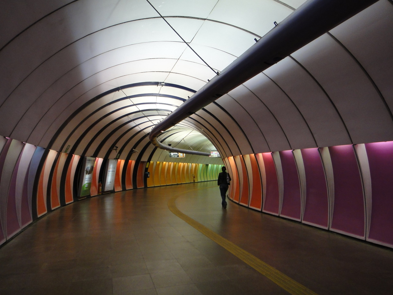 certainly the funkiest metro station i've ever seen. cardeal arcoverde, copacabana. (photo by J)