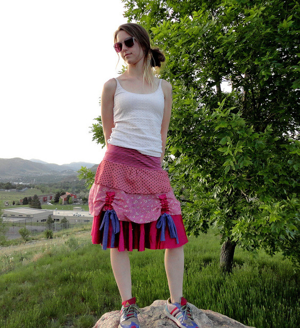 pretty layered skirt by Cubozoa (Jillyfish) on Flickr.