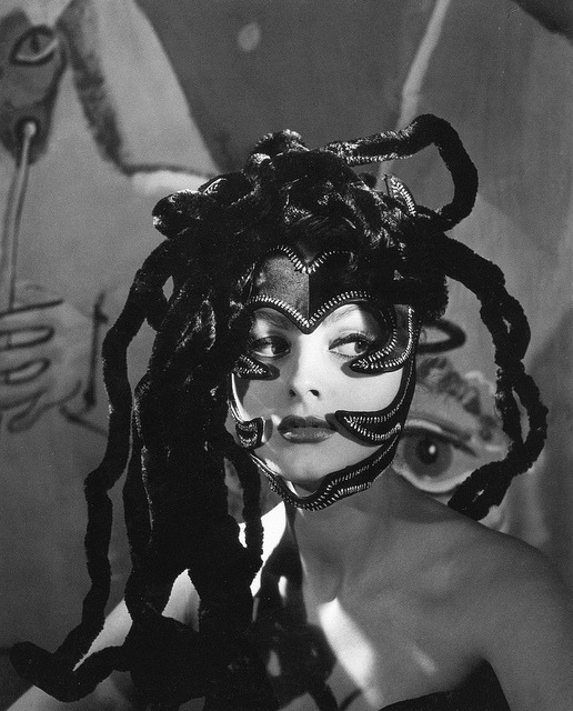 hoodoothatvoodoo:  Medusa headdress worn by actress Ursula Thiess, photo by Regina Relang, Munich 1949