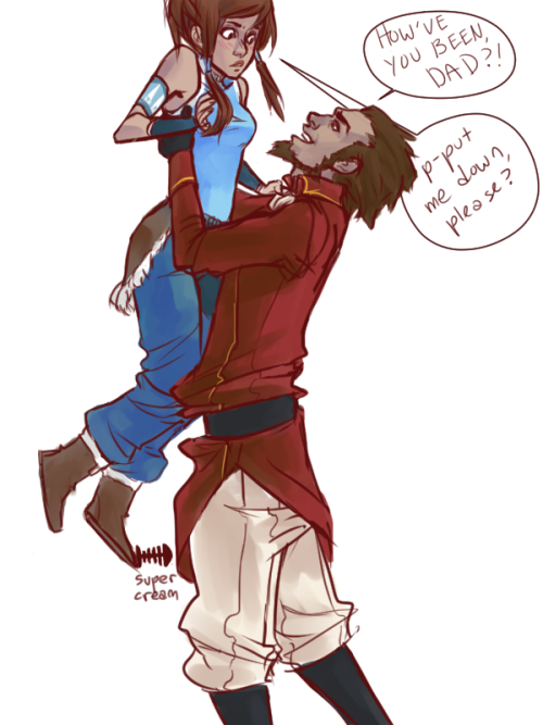 djemso:  fullmetalavatar:  meeting  Somewhere off to one side Tenzin is facepalming, And Pema is laughing, While the kids ask if they should start calling Korra 'Grandpa', Then Tenzin facepalms again..