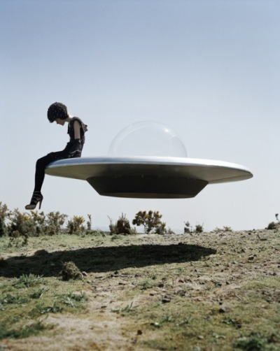 Tim Walker Kinga Rajzak & Her U.F.O, Eglingham, Northumberland, UK, 2009 British Vogue