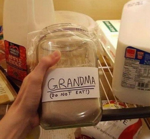 collegehumor:  Grandma (DO NOT EAT) Ugh, how old is this?