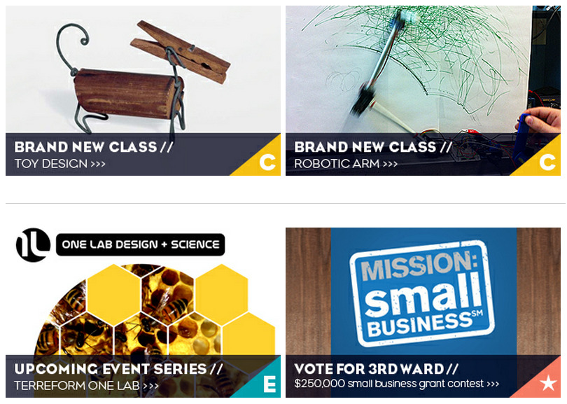 New Courses & Events at 3rd Ward! (and don't forget to vote) Toy Design Robotic Arm Terraform Event Series Vote for 3rd Ward