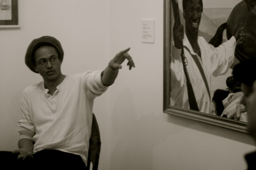 Artist Kimathi Donkor talks about his painting Toussaint L'Ouverture at Bedourete