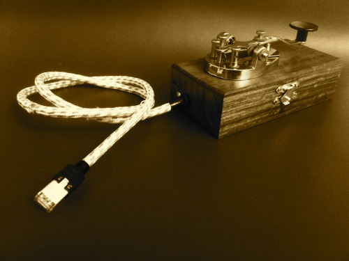 Tworsekey by Martin Kaltenbrunner A morse telegraph that can send messages via ethernet straight to twitter.