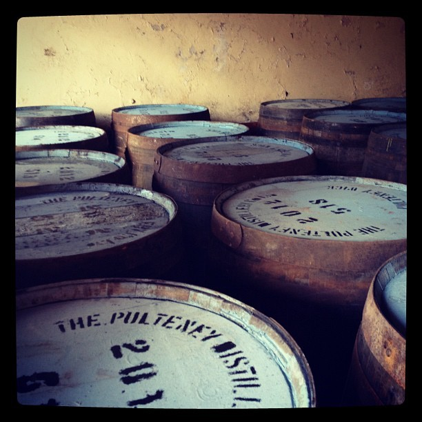 peterlemon:  A pic from my recent trip to Scotland. Barrels in the fill room at the Pulteney Distillery in Wick. (Taken with Instagram)