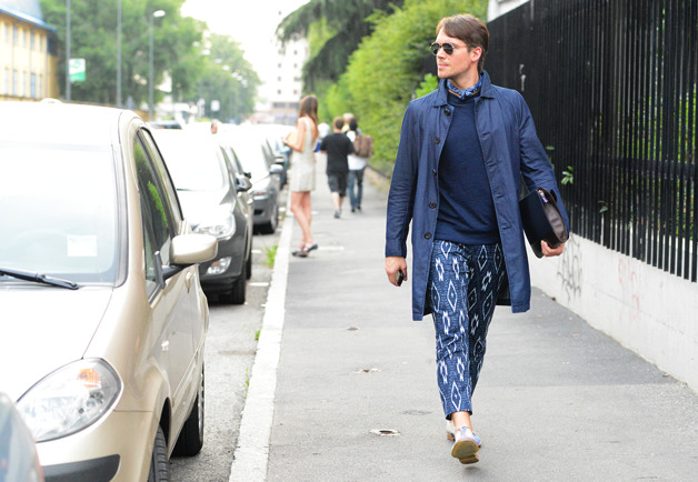 Those ikat pants are insane. Milan fashion week.