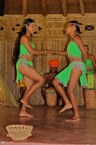 Traditional Kalinago Cultural Performance from: DOMINICA Photo Gallery 2- Kalinago Territory & Cassava Bread Bakery