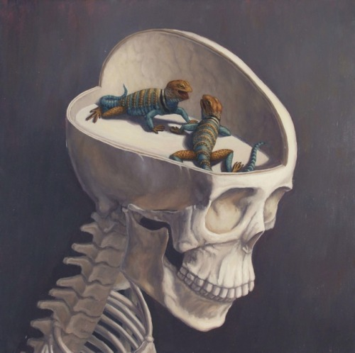 I'm not to blame if there are lizards in my mind.Cool surreal painting by Sandra Yagi. (via Anatomicals) You will also like: drawings.Feel the screams in your soul.