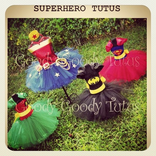 Today on howtobeadad.com, frigging awesome superhero tutus!!!! They're so rad. -Charlie  (Taken with Instagram)