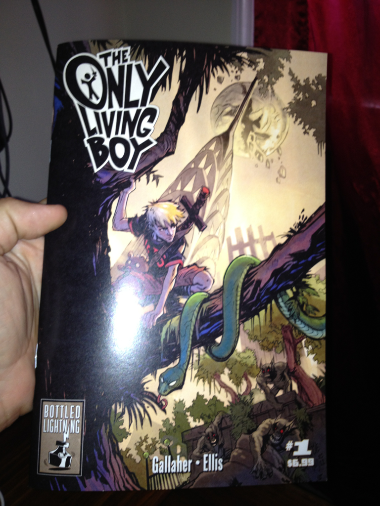 Only Living Boy Proof in our hands, getting ready for SDCC!