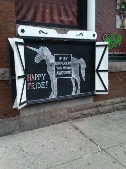 neweyesfromthenearlyblind:  Happy Pride, Toronto! @ Queen and Portland