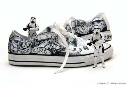 chimpgoods:  Stormtrooper Shoes Created by Shane Grajczyk