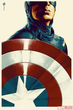 Here's the Captain America poster by Phantom City Creative for Mondo!