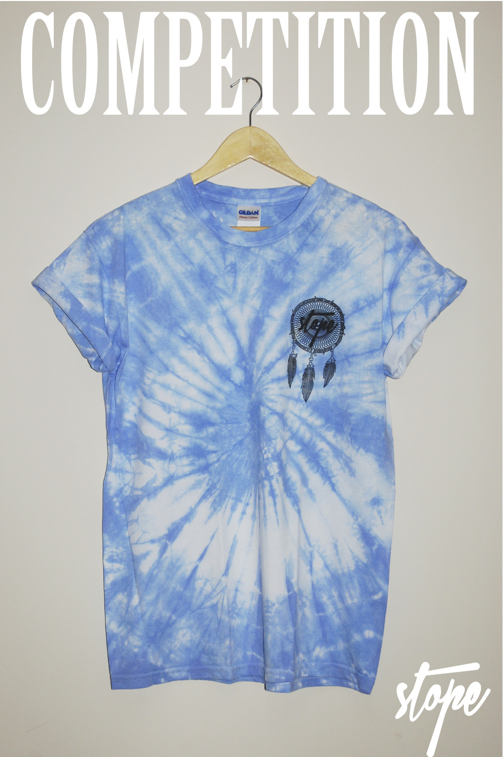 stopeclothing:  COMPETITION For a chance to win one of our Blue Dreamcatcher tie-dyes in either small, medium or large simply follow: www.stopeclothing.tumblr.com and like: www.facebook.com/stopeclothing and reblog this picture! Competition ends on 1/7/2012 at 8PM. Good luck!