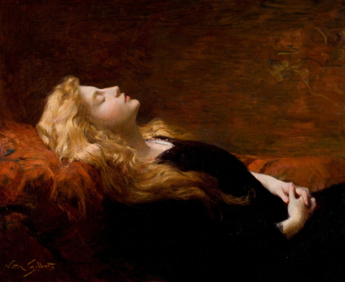 Victor Gabriel Gilbert (1847-1933), Sleeping Beauty or Dornröschen