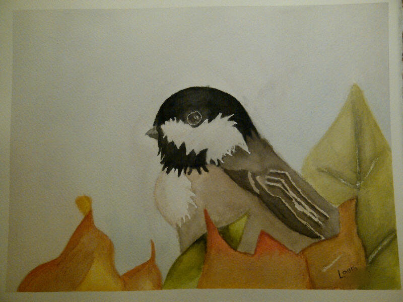 elleeh:  Bird in Watercolour.