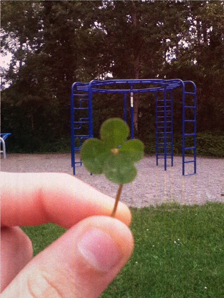 fainting:  I found a 4 leaf clover at the park