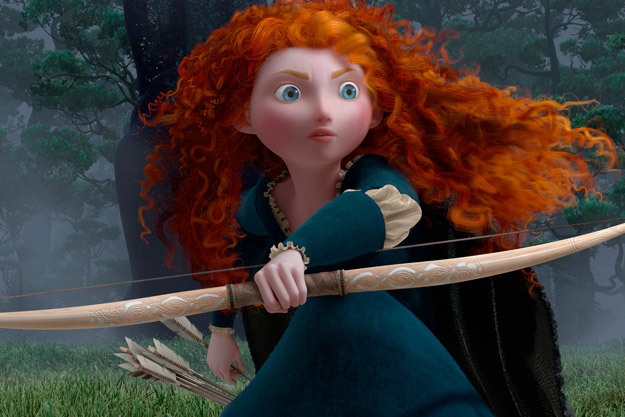 "OK. So I saw Brave and I have to say, well done, Pixar.  Entering the theater, I realized I had no idea what the movie was about. I'd never seen any of the trailers—just the leaked scene featuring Merida's suitors competing in the archery contest. So, here are 3 reasons I was delightfully surprised by Brave: [Spoilers after the jump.] [[MORE]] 1. There was no love interest. Although there was some competition for Merida's hand, there was no meet-cute, there was no rough-boy-meets-fair-maiden-and-woos-her, there was no two-childhood-friends-fall-in-love, none of that. In most animated films that champion a brave leading lady, she always gets her man (or the man gets her) in the end. (See: Mulan, Pocahontas, Tangled…) Brave doesn't reinforce the idea that a woman will only achieve happiness once she finds a man to love her. The threat to marry Merida off acts only as a catalyst for the story's coming events.  2. Aside from not being a love+adventure story, this was not a coming-of-age story either. It was a story about the complicated relationship between a mother and her daughter. I recall that in most films that take on the mother-daughter dynamic, the story ends with the two women in a teary end-of-movie embrace, having not actually resolved their issues, but arriving at a place of, ""I'll never truly understand you, and I still don't approve of the way you live your life, but I'll love you anyway."" In Brave, you watch Merida and Queen Elinor slowly begin to understand one another and come to a place of mutual respect. It doesn't happen in a flourish, and you can see them both struggle to meet in the middle. There's something incredibly real about the evolution of their feelings toward each other—even though one of them was a bear.  3. Merida's hair. The animation for her hair was incredible! I could see every curl! Fin."
