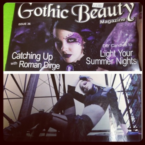 In the new issue of Gothic Beauty for #plastikwrap #gothicbeauty #cyber (Taken with Instagram)