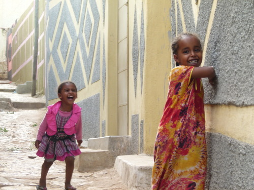 Laugh in the midst of poverty. —Harar, Ethiopia