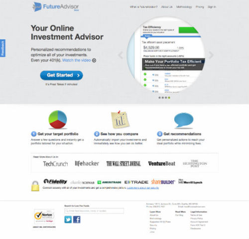 FutureAdvisor makes quality financial advice easily accessible to everyone. It was featured on major web publication including TechCrunch. Check out the awesome team behind FutureAdvisor. Fonts Used: Helvetica Neue, Helvetica and Arial Color Palette:  Original Article