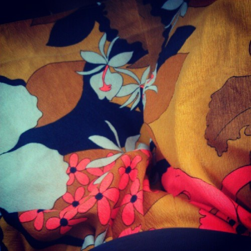Todays dress. I love this fabric #vintage  (Taken with Instagram)