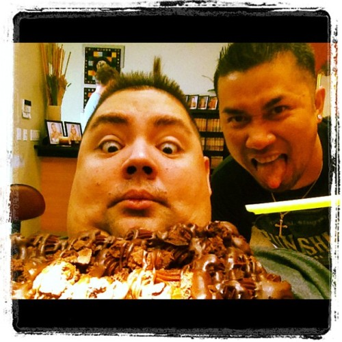 This is @DoctorAnthony , the craziest dentist EVER! Gave me a cake b4 my cleaning. Follow & tell him Fluffy sent u. ;p (Taken with Instagram)