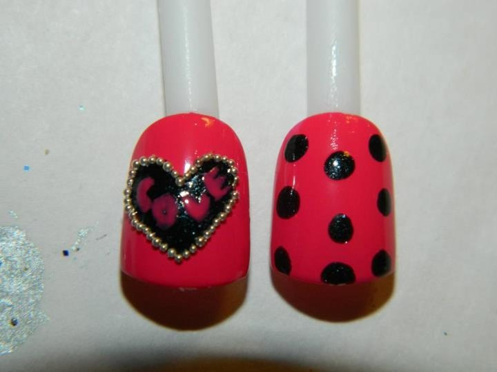 #old #nailart #naildesign #mine #nails #valentinesday