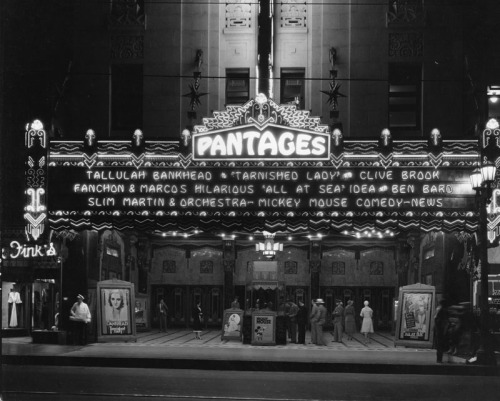 Pantages Theatre, Hollywood, 1931.
