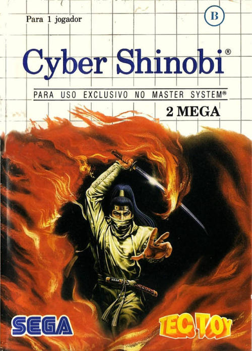 vgjunk:  Cyber Shinobi, Master System.  Who knew Joe Musashi had such beautiful, long flowing hair? He should show it off more often.