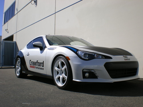 The Crawford Performance BRZ cleans up so much with just a simple lowering spring. Can't wait to see it on the TEIN Mono Flex Coilovers.