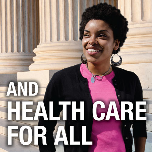 Today the Supreme Court upheld the health care law — a tremendous victory for women's health and all Americans.