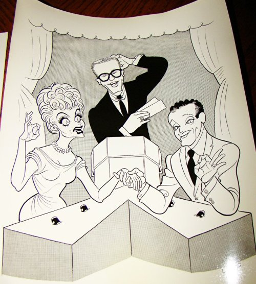a caricature of Allen, Lucy and Gary for the show Password :)