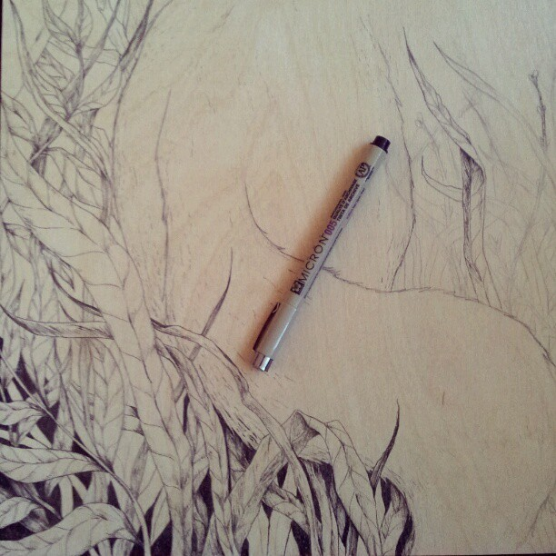 Starting to ink a new piece! (Taken with Instagram)