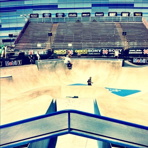 @curren_caples tuck knee over mini mega #xgames2012. Photo: @jeremyadams85 #staffcrops (Taken with Instagram)
