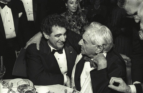 Epic Photo of Placido Domingo and Leonard Bernstein.