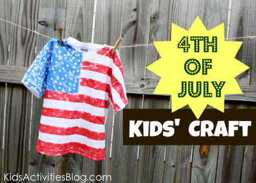 Fourth of July shirt tutorial from Kids Activities Blog.