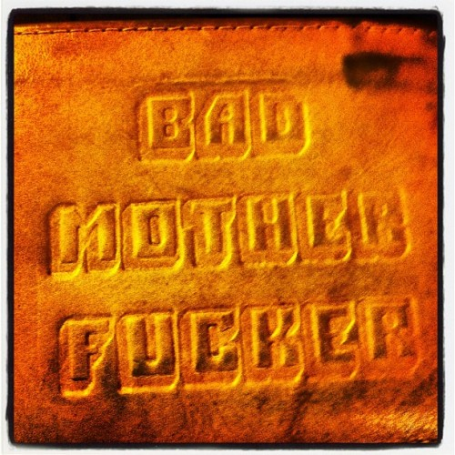 My #pulpfiction wallet, it's #instagood for #igaddicts.  (Taken with Instagram)