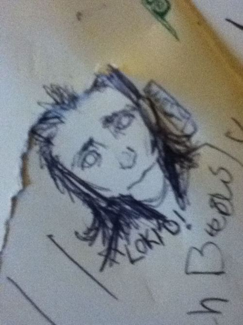 My prank in our local coffee shop's Moleskine.  I DREW LOKI. I DREW HIM AND YOU DIDN'T EXPECT THAT.  LOKI'D I LOKI'D YOU AGAIN
