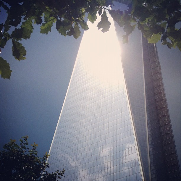 Tower in the trees  (Taken with Instagram at National September 11 Memorial at World Trade Center)